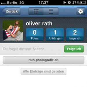 Intagram für Oliver Rath