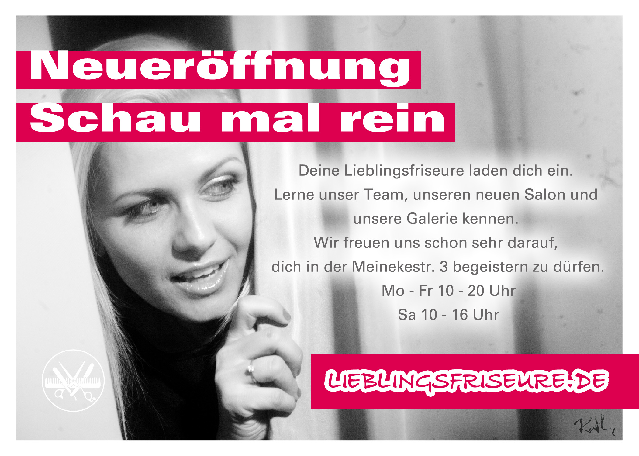 Flyer Saloneröffnung Haarflüsterer Business Coaching