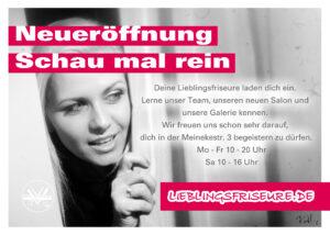 Flyer zur Eröffnung