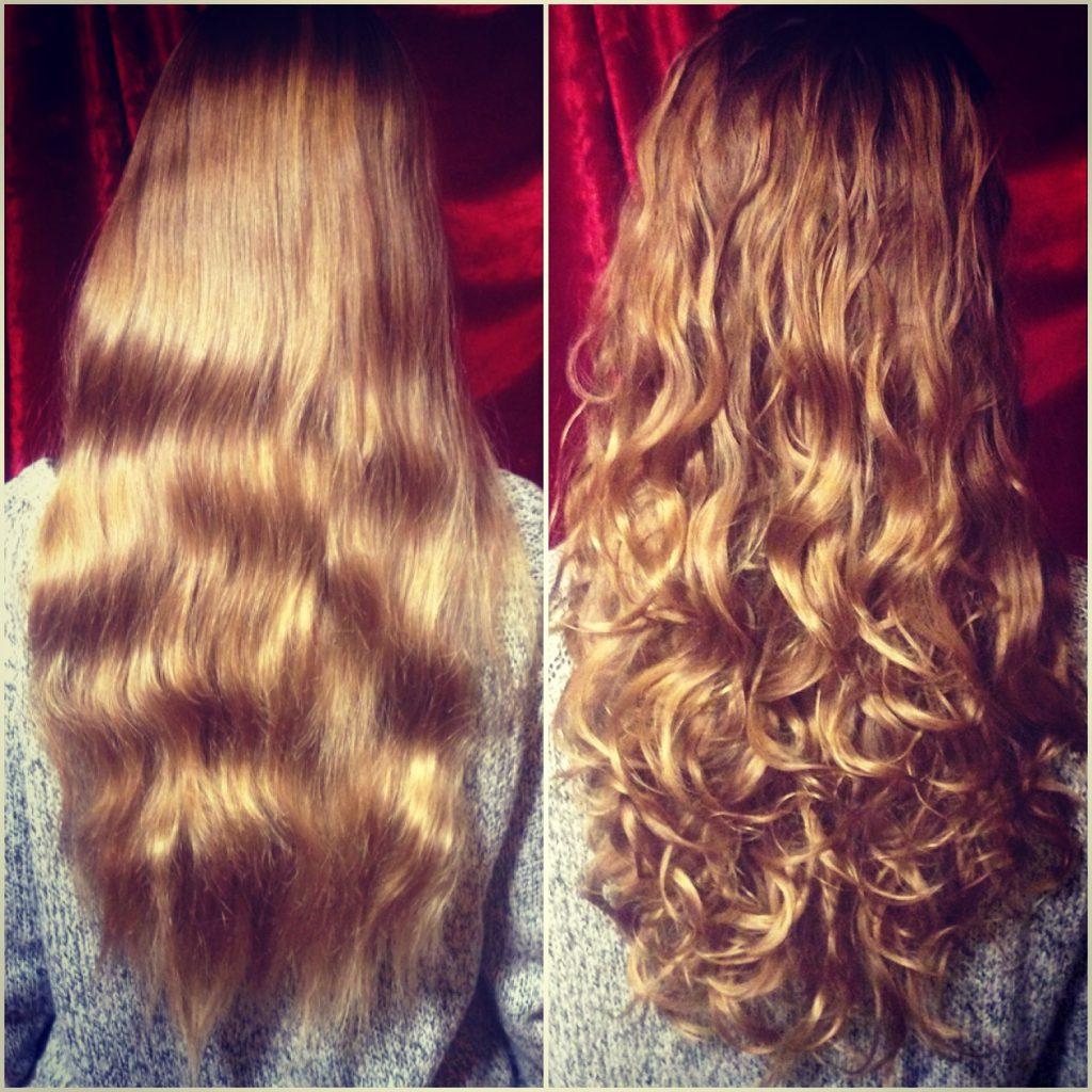 Volumenschnitt für langes Haar
