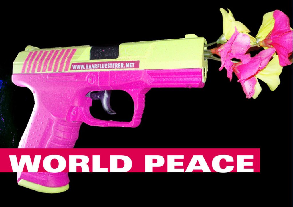gun with flowers - world peace