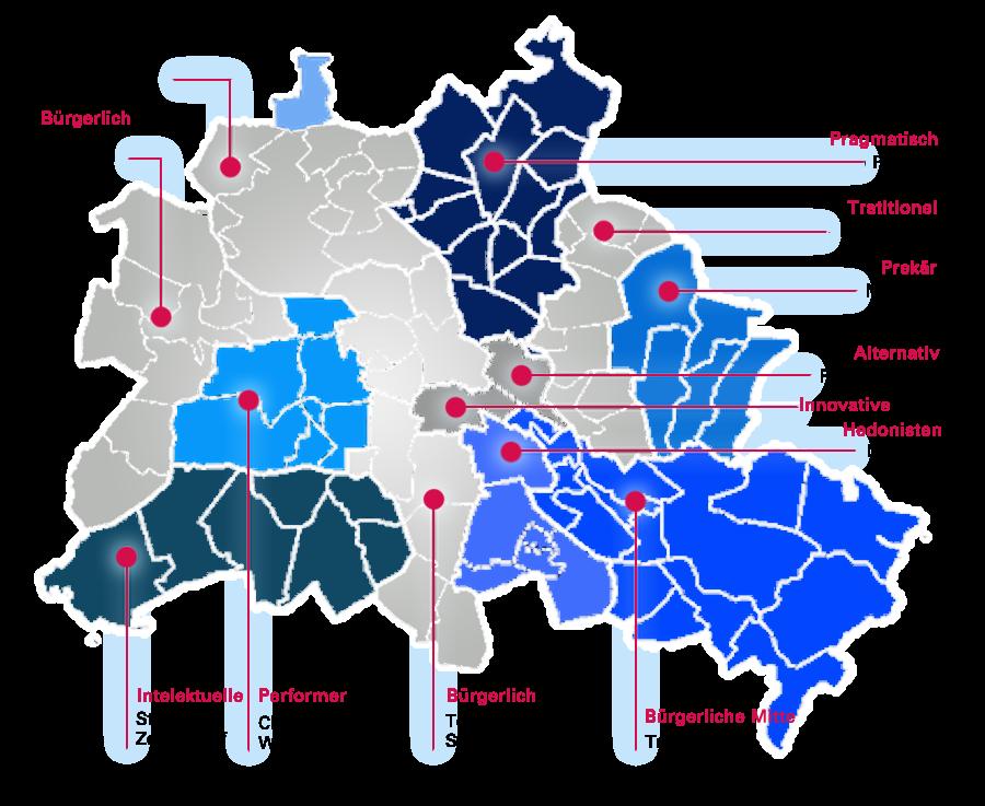 Karte friseure Berlin